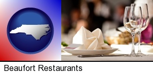 Beaufort, North Carolina - a restaurant table place setting