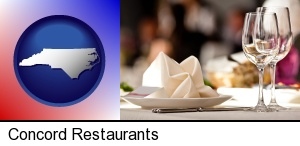 Concord, North Carolina - a restaurant table place setting