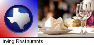 Irving, Texas - a restaurant table place setting
