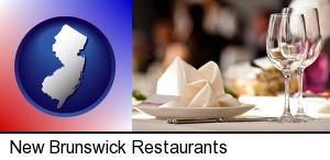 New Brunswick, New Jersey - a restaurant table place setting