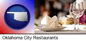 a restaurant table place setting in Oklahoma City, OK